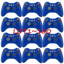 LOT 100 Official Microsoft Xbox 360 Glossy Blue Wireless Controller Gamepad FH