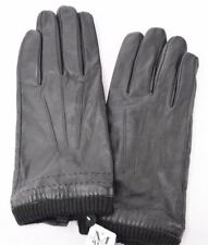Mens Wearhouse Classic Driving Leather Casual Gloves Black