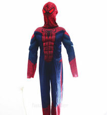 Spiderman Halloween Party Costume Dress Kids Boys Muscle Pad Outfit Set