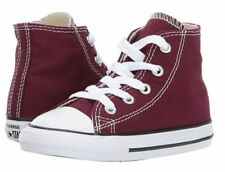Converse Hi Top Burgundy White Baby Infant Toddler Boys Girls Shoes Size 4 - 10