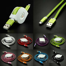 3FT Retractable Micro USB 2.0 Fast Data Sync Charger Charging Cable For Samsung