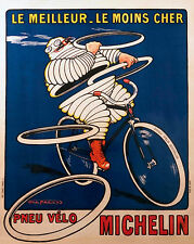 Vintage Print Paper Poster Canvas Framed Art by michelin french