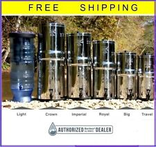 Berkey Water Filter Sys Big Travel Royal Imperial Crown Light Choose Black, PF-2