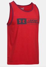 Under Armour Men's Bar Left Lockup Tank ‑ Red/Stealth Gray, Various Sizes