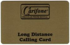 Carifone Cellular Phone Rental Long Distance Calling Card SPECIMEN Phone Card