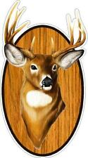 Deer Buck Head Mounted On Oval Wall Decal Sticker Hunting Man Cave Christmas