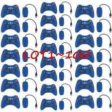 LOT100 OEM Genuine Microsoft Xbox 360 Wireless Controller Blue - BRAND NEW USA T