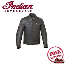 GENUINE INDIAN MOTORCYCLE MEN'S CLASSIC DARK BROWN LEATHER JACKET W/ ARMOR NEW