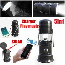 Collapsible Solar Outdoor Rechargeable Camping Lantern Light LED Hand Lamp MU