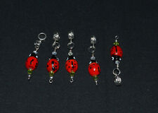 New Lampwork Murano Glass Ladybug crystal Dangle Bead for Euro Charm bracelet