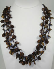 Coconut Brown Round Beads Beach Fashion Design Necklace C5