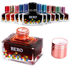 Fountain pen ink HERO 40ml glass bottle 12 colors to choose Free Shipping