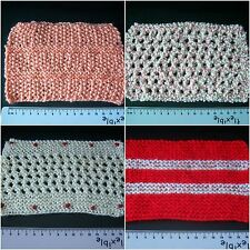 Handmade Miniature 1/12th scale dolls house knitted THROWS. Various