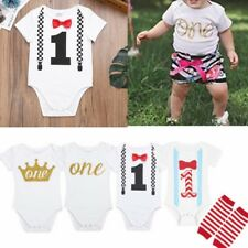 One-Piece Baby Boys Girl 1st First Birthday Romper Bodysuit Toddler Infant Crown