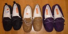 Womens SPORTO Moccasin Slippers House Shoes Size S M L Black Purple Moccasins