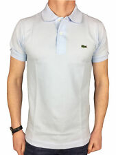 Lacoste Mens S/S Logo Branded Polo Shirt in Blue Rill