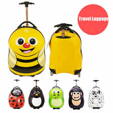 Kids Children Boys Girls Travel Wheels Case Luggage Suitcase Trolley Bag