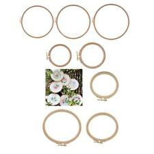 7 Size Wood Frame Embroidery Hoop Ring Circle Round Loop Cross Stitch DIY Tools
