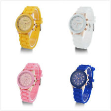 Casual Unisex Women Lady Trendy Stylish Silicon Jelly Strap Wrist Watch Colorful
