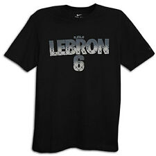 "Nike Lebron James ""Lebron 6"" Dri-Fit T-Shirt Black Men's Medium 3XL BNWT!"