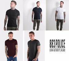 Mens 883 Police Crew Basic T Shirt Stretch Top Cotton Crew Neck Short Sleeve Tee