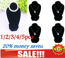 1/2/3/4/5pcs Jewellery Necklace Chain Display Bust Velvet Black Holder Stand AE