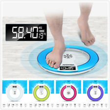 Electronic Digital Bathroom Body Scale Weight Control Health Scale Glass 180kg L