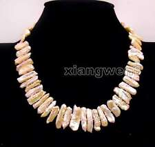 SALE Big  15-25mm Natural Pink freshwater Biwa Pearl 17'' Necklace -nec6172