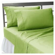 1000 THREAD COUNT SAGE SOLID EGYPTIAN COTTON UK BED SHEET SET/DUVET/FITTED