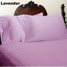 1000 THREAD COUNT LEVENDER STRIPE EGYPTIAN COTTON UK BED SHEET SET/DUVET/FITTED