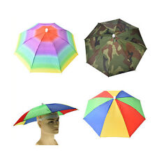 Outdoor Foldable Sun Umbrella Hat Golf Fishing Camping Headwear Cap Head Hat EL