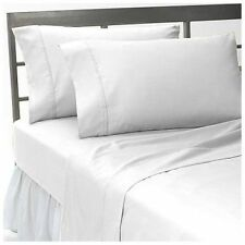 King Size 1000 TC Egyptian Cotton Sheet Set/Duvet/Fitted/Pillow White Solid,