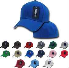 ALL NEW Plain Fitted Hat Pre Curved Bill 6 Panel Baseball Hats Hat Caps Cap Work