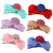 5Pcs Infant Baby Girl Hair Clip Bows Handmade Alligator Barrettes Hairpin