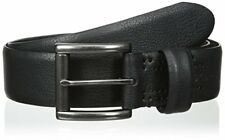 New Columbia Men's Feather-Edge Black Genuine Leather Belt Size 36,40 MSRP $30