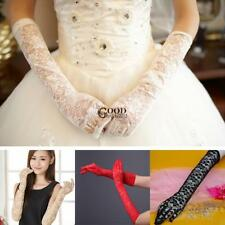 Women Wedding Party Evening Long Lace Gloves Bridal Gloves Sunscreen TXGT