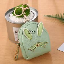 Women Synthetic Leather Cute Rabbit Ear Pattern Coin Purse Wallet with TXGT