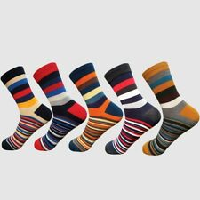 Mens Socks Casual Chromatic Stripe 5 Pairs Of Socks Man With Final Fashion Style