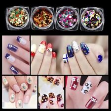 12 Color GLITTER Shiny Ultra-thin Sequins Nail Art Sparkly Decoration DESIGN SQ