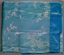 Satin Brocade Baby Blanket with Cherry Blossom