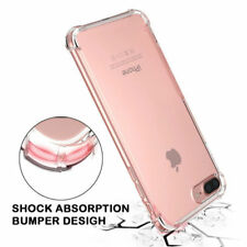 Shockproof Transparent Silicone Rubber Soft TPU Case Cover For iPhone X 8/8 Plus
