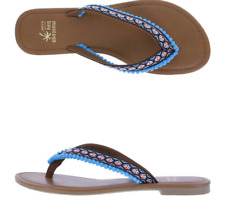 Montego Bay Club Flip Flops Sandals Womens Shoes Black Blue Brown NEW with Tags