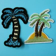 2 Palm Tree Holiday Iron on Sew Patch Embroidery Applique Badge Motif Motif Lots