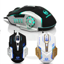 Comfortable 3200 DPI 6D Buttons LED Mechanical Wired Gaming Mouse For PC Laptop