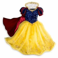 Disney Store Snow White Limited Deluxe Princess Dress Costume Halloween 5/6 7/8