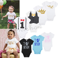 Cotton Romper Infant Baby Boys First Birthday Jumpsuit Bodysuit Outfits Party