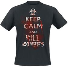 Keep Calm And Kill Zombies  T-Shirt black