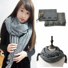 Men Women Soft Long Neck Scarf Large Size Classic Lattice Pattern Wrap Shawl LN