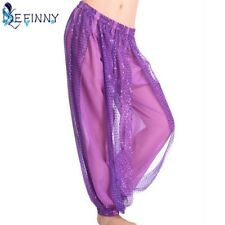 Women's Genie Harem Pants Belly Dancing Tribal Costume Shinny Bloomers Trouse...
