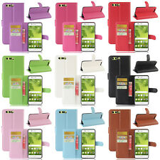 9 Colors Stand Flip Wallet Cover Mobile Phone Case For Huawei P8/P9/P10/Lite
